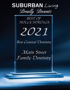 dentist holly springs, nc award